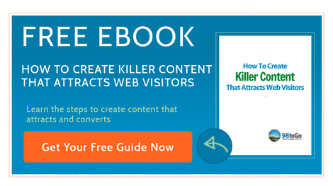 Free ebook from 98toGo How To Create Killer Content That Attracts Web Visitors