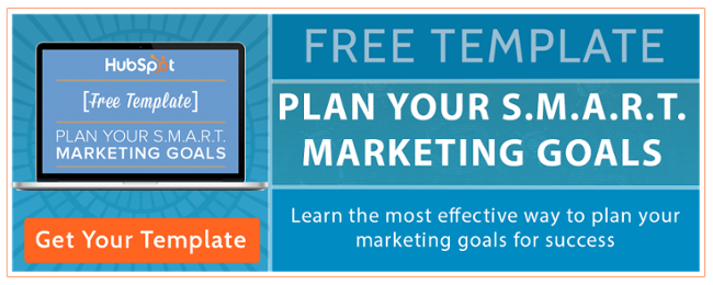 Plan your smart marketing goals free template by 98toGo