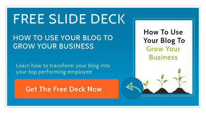 How to use your blog to grow your business slide deck presentation