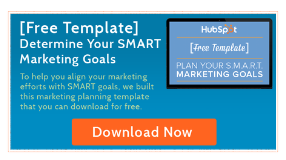 Free Template to plan your SMART Marketing Goals