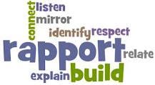 builds rapport