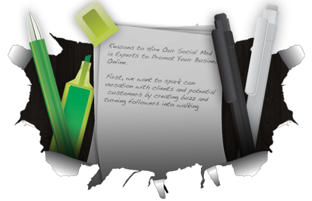 website content writing template